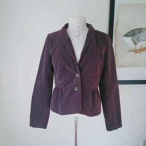 J.Crew button front Blazer jacket corduroy 8